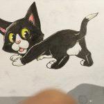 猫のペットの似顔絵の描き方。動物イラストの練習にはディズニーを参考にするといい。