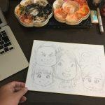 僕が似顔絵で使うアナログ画材と種類(イラストを描く時のメイキングも動画で公開)