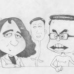 漫画家のニコ生「山田玲司のヤングサンデー」のオープニング似顔絵漫画アニメを作りました。(ヤンサン音頭)