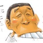 似顔絵イラストは表情で決まる!?明石家さんまの笑顔はどれくらい歯を出せば良いのか