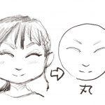 似顔絵画家が教える顔のイラストの輪郭の描き方(男女共通)初心者はまず、図形を意識して描くことを覚えよう