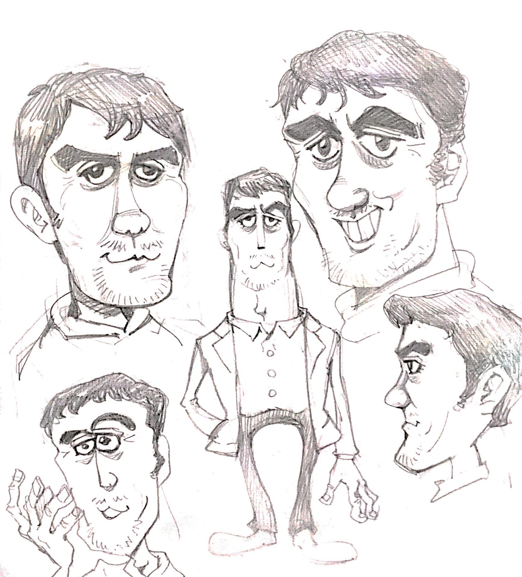ハーフっぽいかっこいいおじさんの描き方。阿部寛さんの似顔絵イラスト