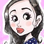 美人女優の似顔絵は難しい? 可愛く似せるコツとは「 石原さとみ」のイラスト